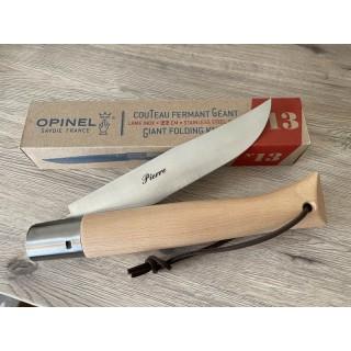Couteau géant Opinel N°13 Inox personnalisé
